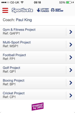 Sportivate – Project Deliverers screenshot 2