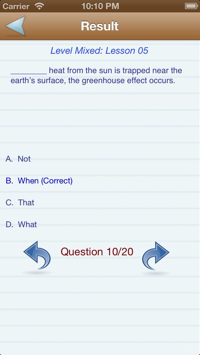 Test English (Level A,B,C) Скриншоты7
