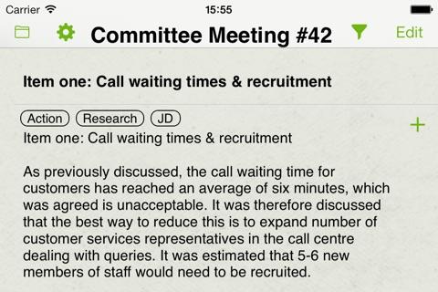 Screenshot of Meeting Assist