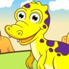 Dinosaurier-Spiel für Kinder im Alter von 2-5: Spiele und Puzzles für Kindergarten, Vorschule oder Grundschule mit Tyrannosaurus Rex, Velociraptor, Triceratops und vieles mehr. Prähistorischer Spaß mit Fossilien, Reptilien, Amphibien, Eidechsen