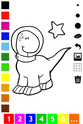 An Outer Space Coloring Book for Children: Learn to color astronaut, alien and ufo screenshot 3