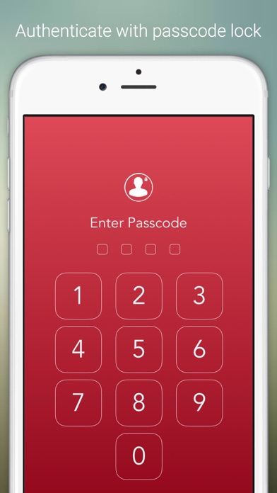 Social Lock - For Social Network & Online Dating ( RED ) version screenshot