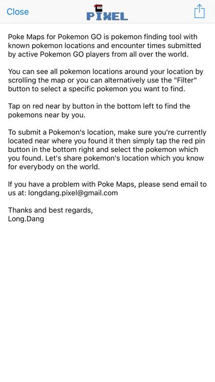 Poke Maps - Radar for finding pokemon location in the world by Long Dang