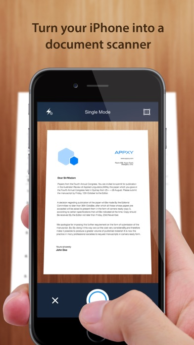 Screenshots of Tiny Scanner - PDF scanner to scan document, receipt & fax for iPhone