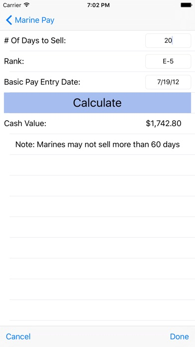 Screenshot for Marine Pay in United States App Store