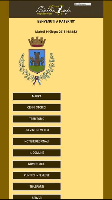 Screenshot of Paternò Sicilia Info1