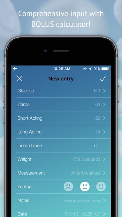 Screenshot #1 pour Gratuit diabète moniteur - glucose,insulin