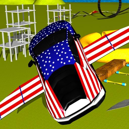 American Fast Furious Flying car Stunt iOS App