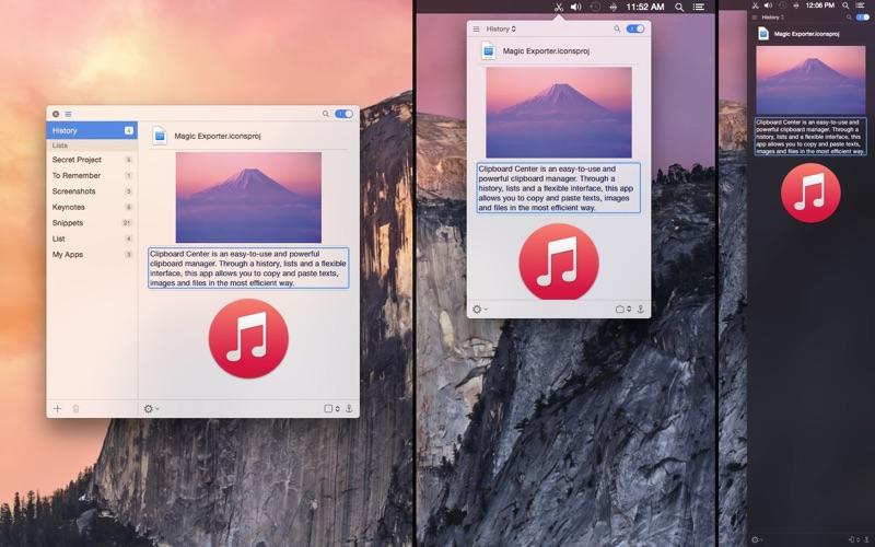 Clipboard Center Screenshots