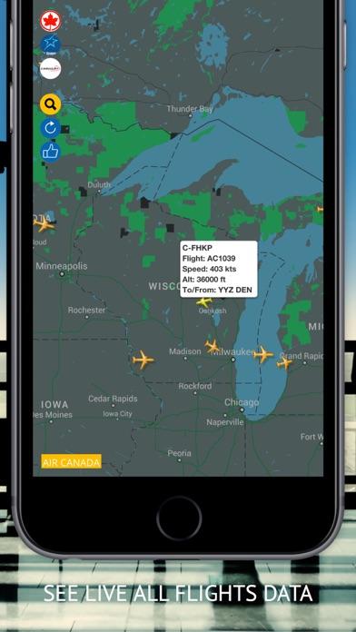air ca flight radar status app report on mobile action. Black Bedroom Furniture Sets. Home Design Ideas