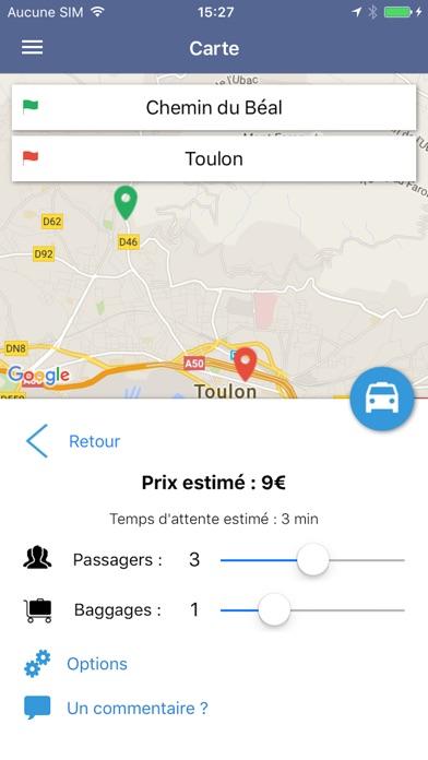 app shopper taxi toulon travel. Black Bedroom Furniture Sets. Home Design Ideas