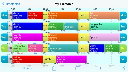 School Timetable Free - Lesson & Course Schedule for Student ...