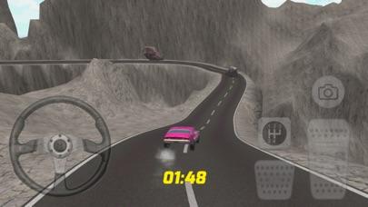 スーパーピンクの車のレースゲームのスクリーンショット3