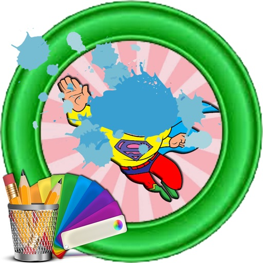 Coloring For Kids Cartoon super hero Version iOS App