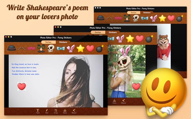 Funny editing photos app
