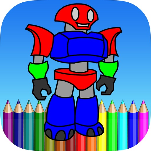 Robot Coloring Book For Kids iOS App