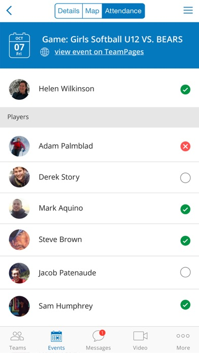 TeamPages iPhone