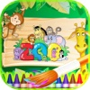 Coloring Book Zoo Animals - Zoo Animals For Children To Learn to Paint - Free Color Pages zoo animals clipart