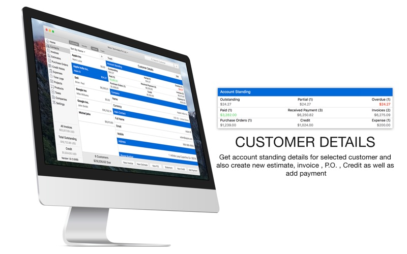 Dhl Proforma Invoice Pdf Moon Invoice  Easy Invoicing On The Mac App Store Proforma Of Invoice with Irs Receipt Requirements Excel Screenshot  Screenshot  Screenshot  Moon Invoice  Quickbooks Scan Receipts Pdf