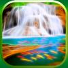 3D Cascada Fondo de Pantalla - Guay Fractal Naturaleza Fondos Y Retina Pantallas de Bloqueo