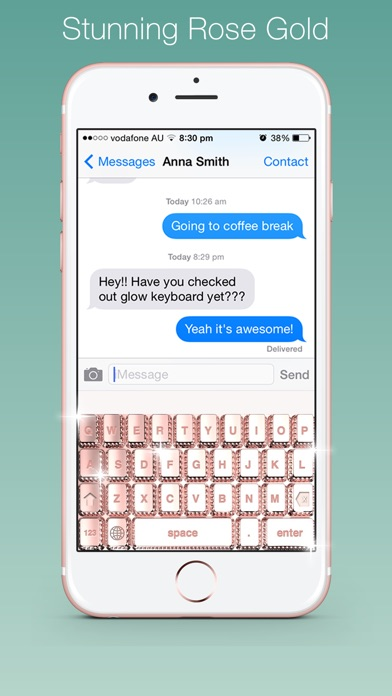 Bling my keyboard rose gold diamond gold keyboards on the app iphone screenshot 2 ccuart Image collections