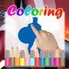 Kids Paint Coloring Captain America Version