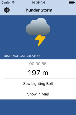 Thunder Storm Lite - Distance from Lightning screenshot 1