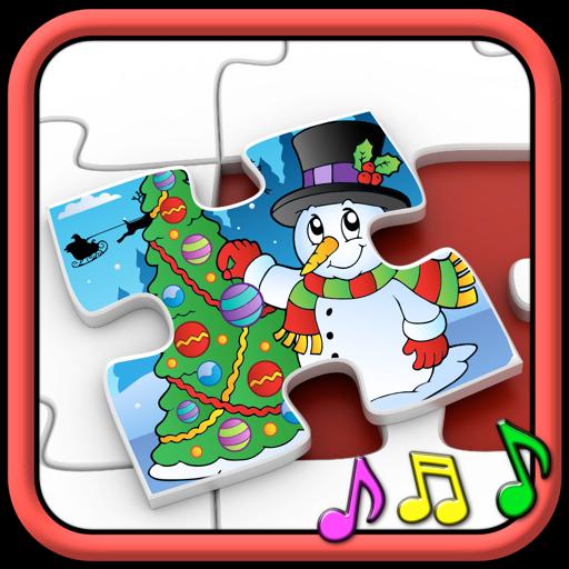 Дети Рождество головоломки формы - обучающая игра для детей дошкольного возраста 3 +