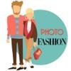 照片時尚 - 為連衣裙男人,女人和孩子們(合成照片)