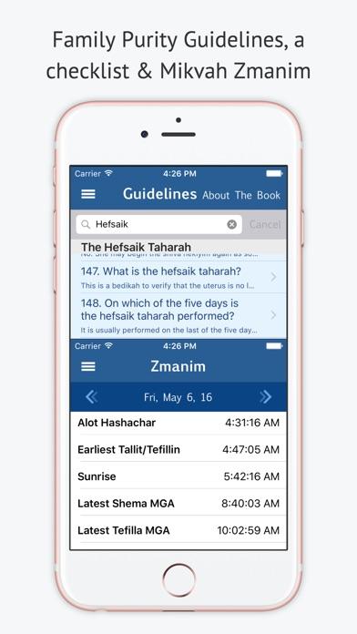 Mikvah מקוה - Jewish Family Purity Screenshot 5