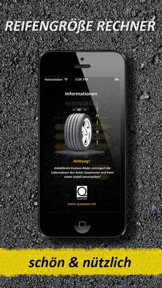 reifengr e rechner im app store. Black Bedroom Furniture Sets. Home Design Ideas