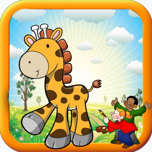 Kids Game Giraffe Coloring Version iOS App