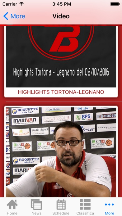 Screenshot of Legnano Basket Knights App5