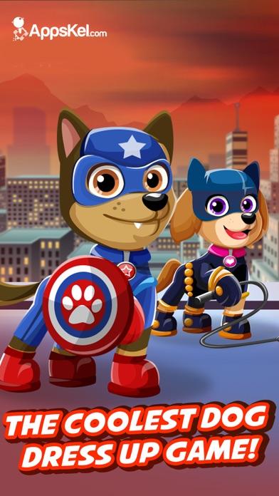Screenshots of Super Hero Pet Patrol Creator – Go Dress Up Superhero Dogs Games Free for iPhone
