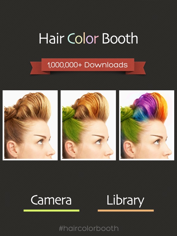 Hair color booth on the app store ipad screenshot 1 urmus Images