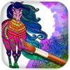 Mandala cavalli - Disegni da colorare per adulti