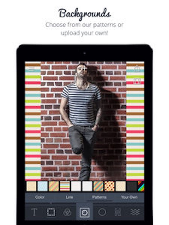 Screenshots of Square Sized - Crop & export entire picture or video without cropping (Insta.gram edition) for iPad