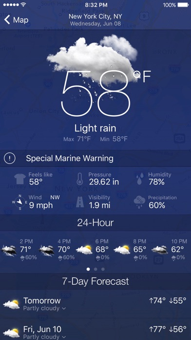 Screenshots of NOAA Radar Pro – Weather Alerts & Forecast for iPhone