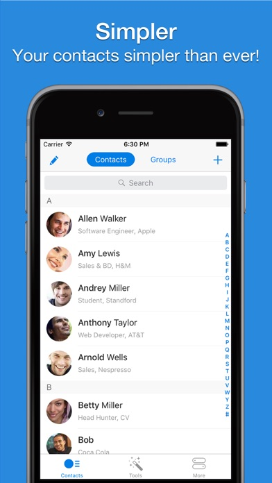 Screenshot #6 for Simpler - Smart contacts manager