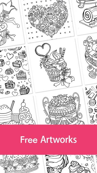 iphone screenshot 3 - Food Coloring Book