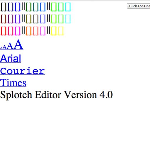 Splotch Editor