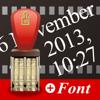 Datum Stempel Font Kamera