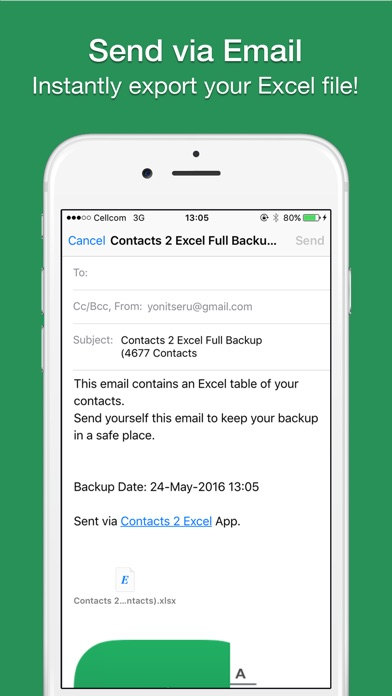 Screenshot #7 for Contacts 2 XLS - Export contacts to Excel