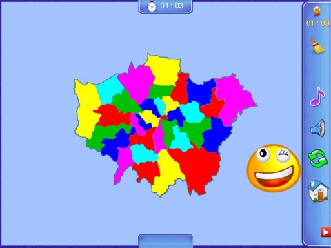 Greater London Puzzle Map screenshot 2