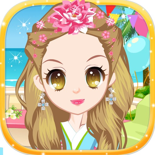 Cute Sakura Girl - Princess's Costumes Salon iOS App