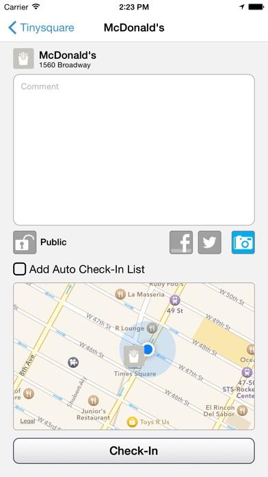 Tinysquare for Foursquare Screenshots
