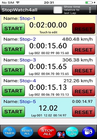StopWatch4all-Pro screenshot 1