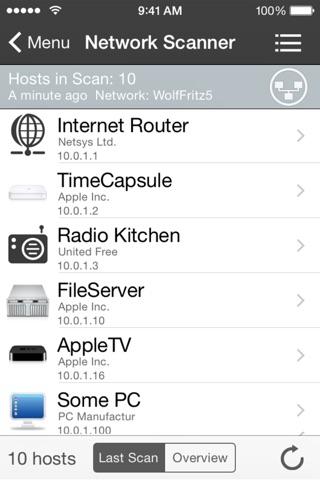 Screenshot iNet Pro - Réseau Scanner