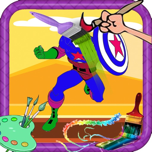 Coloring Pages Captain America Version iOS App