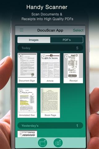 Docu Scan - Document Scanner, PDF Converter and Receipt Organizer screenshot 1